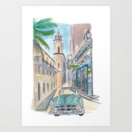 Bodeguita del Medio Havana with Old_Car Empedrado Art Print