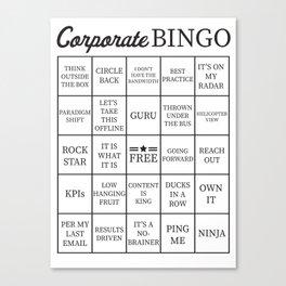 Corporate Jargon Buzzword Bingo Card Canvas Print