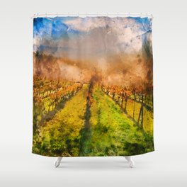 Hills of Tuscany Shower Curtain
