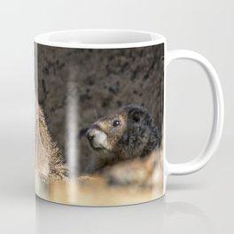 Two Marmots At Smith Rock Coffee Mug