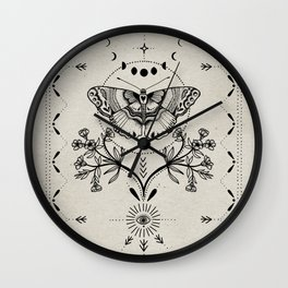 Magical Moth Wall Clock