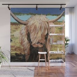 Highland Cow Wall Mural