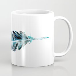 Blue feather Coffee Mug