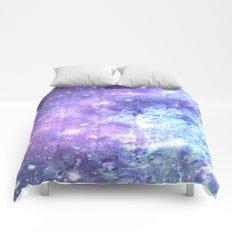 Grunge Galaxy Lavender Periwinkle Blue Comforters