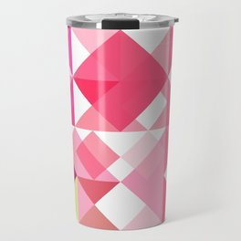 Pink Roses in Anzures 2 Abstract Triangles 1 Travel Mug