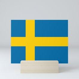 Flag of Sweden - Swedish Flag Mini Art Print