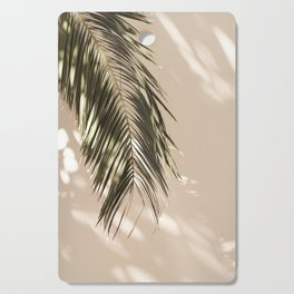 tropical palm leaves vi Cutting Board