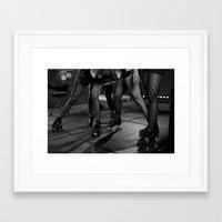 roller derby Framed Art Prints featuring Roller Derby by Tara Durrant Designs