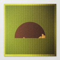 modest mouse Canvas Prints featuring Music in Monogeometry : Modest Mouse by Katrina Encanto