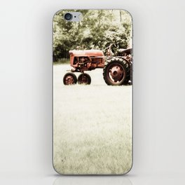 Vintage Red Tractor iPhone Skin