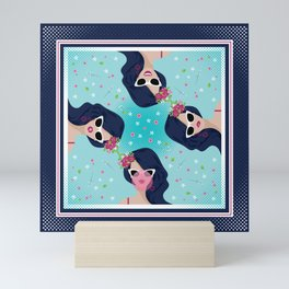 Girl Bubble Gum Mini Art Print