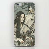 nan lawson iPhone & iPod Skins featuring enmeshed in Nan Elmoth by Liga Klavina