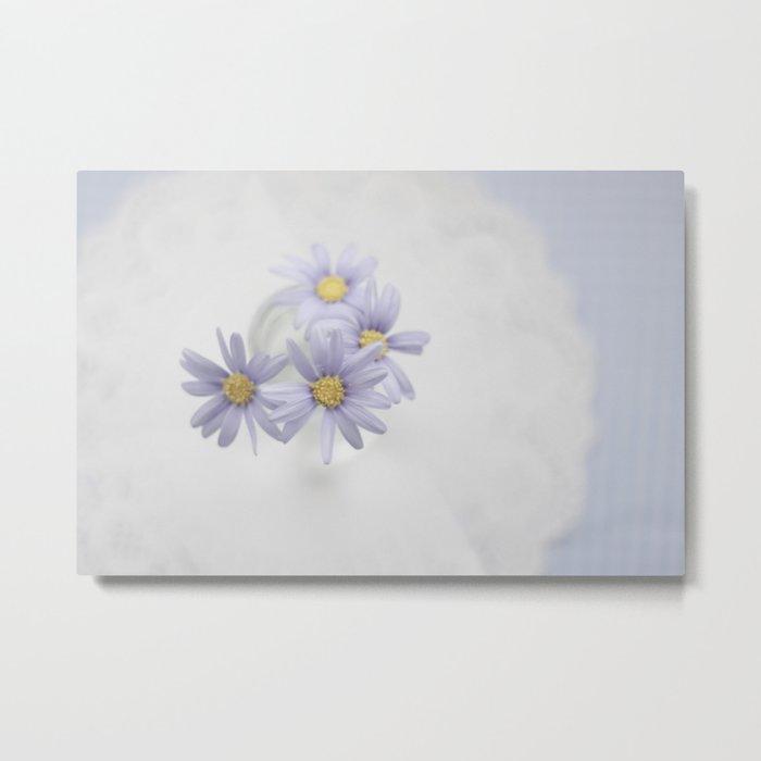 Purple daisies Metal Print