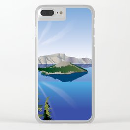 Crater Lake National Park Clear iPhone Case