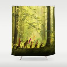 Secret Parade Shower Curtain