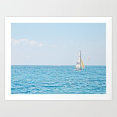 Solo Sailboat Art Print