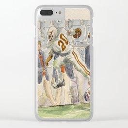 Earl Campbell Runningback Football Clear iPhone Case