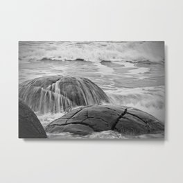 Rocky Shore Icing Metal Print