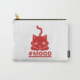 #MOOD Cat Red Carry-All Pouch