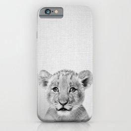 Baby Lion - Black & White iPhone Case