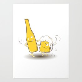 We are not drunk! Art Print