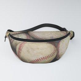 Many Baseballs - Background pattern Sports Illustration Fanny Pack