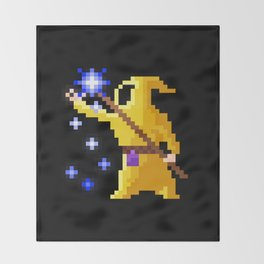 wizard yellow Throw Blanket