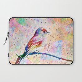 Flashy Phoebe - Black Phoebe Bird Laptop Sleeve