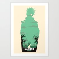 naruto Art Prints featuring Naruto Shippuden by GIOdesign
