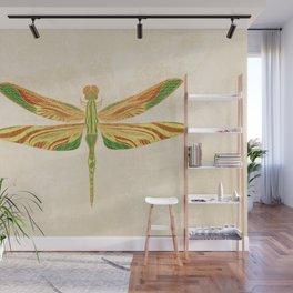 Antique Art Nouveau Dragonfly Wall Mural