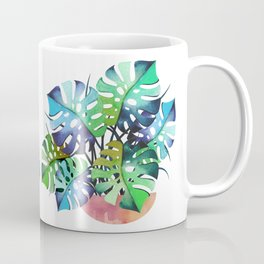 Watercolor Monstera Or One Fine Swiss Cheese Plant Coffee Mug
