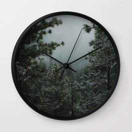 Backwoods Winter: Ponderosa Pines, Washington Wall Clock