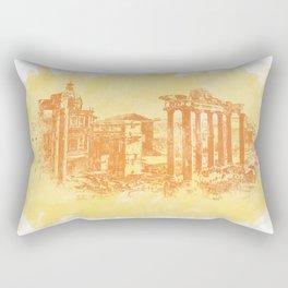 Rome imperial forums Rectangular Pillow
