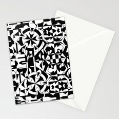 Black and White Square 1 Stationery Cards