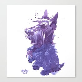Serving scottie Canvas Print