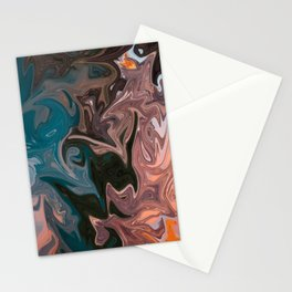 Molten Lava Water Slide Stationery Cards