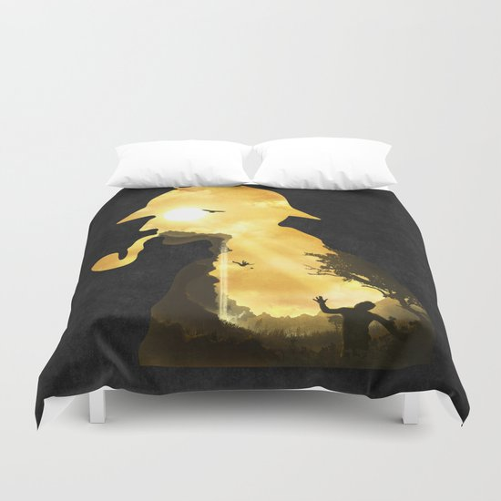 The Parting Hour Duvet Cover