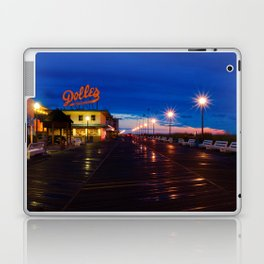 Early Morning at Dolles Coastal Landscape Photograph - Boardwalk Artwork Laptop & iPad Skin