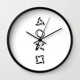 Playstation Symbols - Impossible Geometry Wall Clock