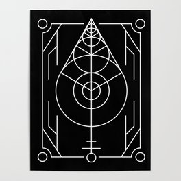 The Leaf Sacred Geometry Poster