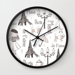 Paris Girl Wall Clock