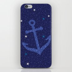 Starfish Anchor - Navy iPhone & iPod Skin