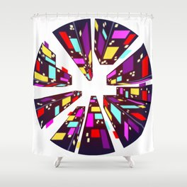 City Surreal Shower Curtain