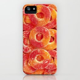 Gummy Sour Peach Rings Photo Pattern iPhone Case