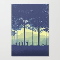stand by me Canvas Prints featuring Stand By Me by Ape Meets Girl