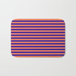 Vintage Beach Stripes Bath Mat