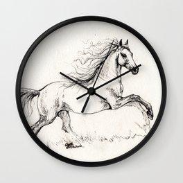 Running andalusian horse Wall Clock