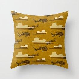 Whale Shark Yellow  #nautical #whaleshark Throw Pillow