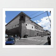 Blue Corner Cuzco. 2011 Art Print