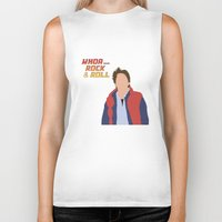 mcfly Biker Tanks featuring Marty McFly by Christina